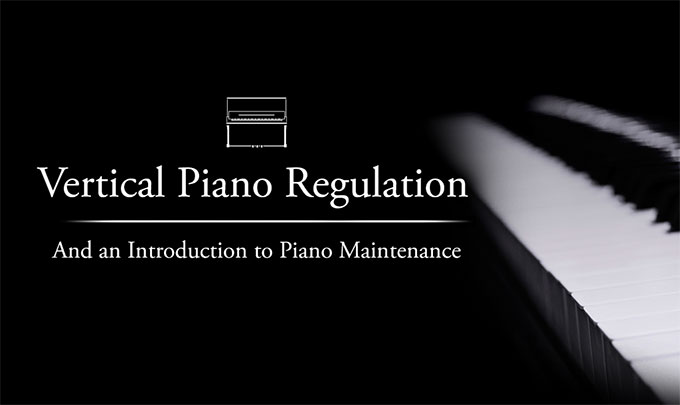 Vertical Piano Regulation